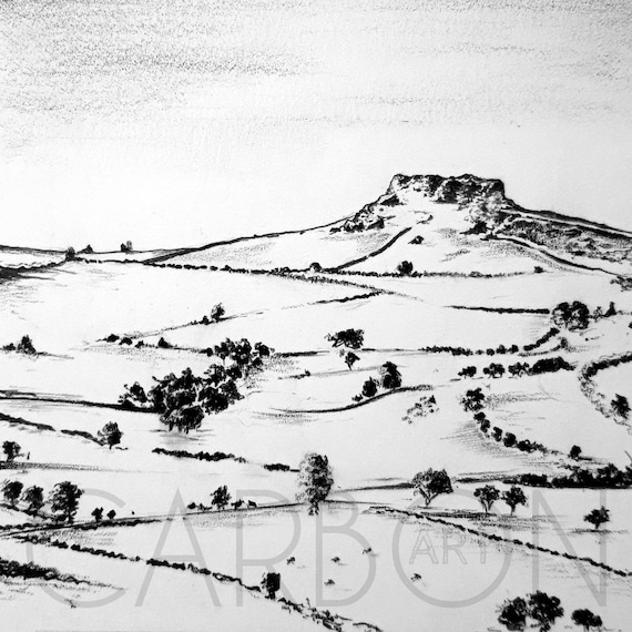 Signed Print of Almscliffe Crag in North Yorkshire