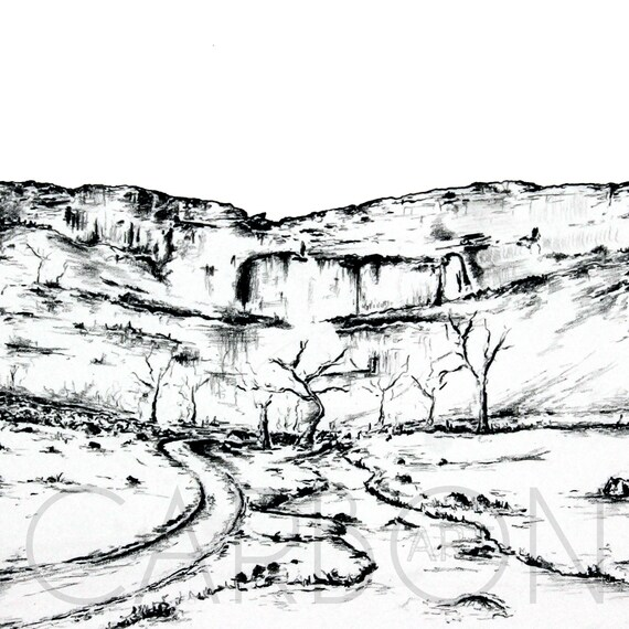 Signed Print of Malham Cove in North Yorkshire