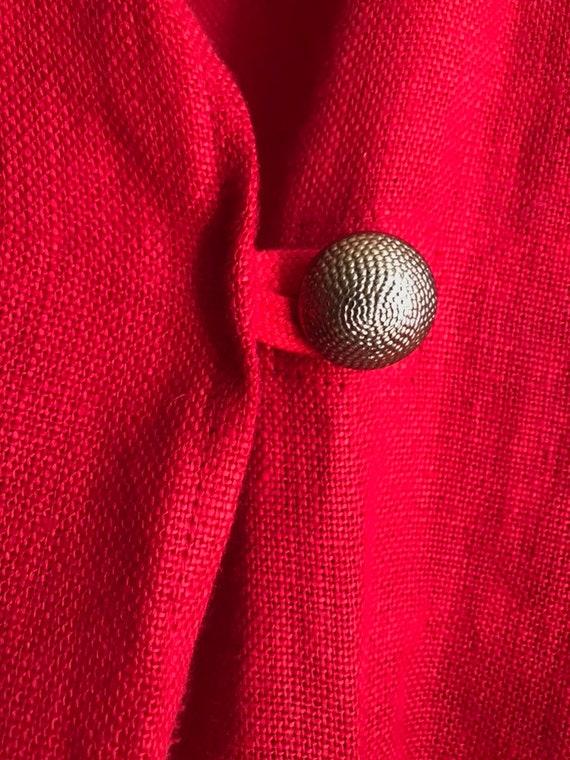 Ko and Co Oversized Linen Wrap Jacket, Kimono Wid… - image 8