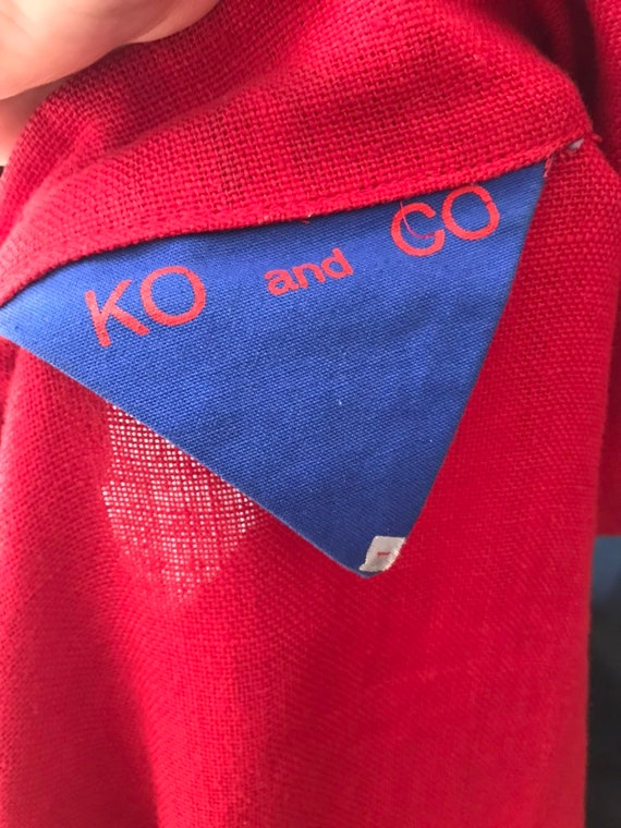 Ko and Co Oversized Linen Wrap Jacket, Kimono Wid… - image 9