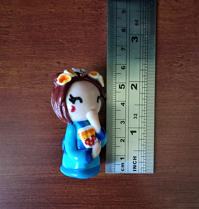 Handmade PendantCharm Miss Kimono