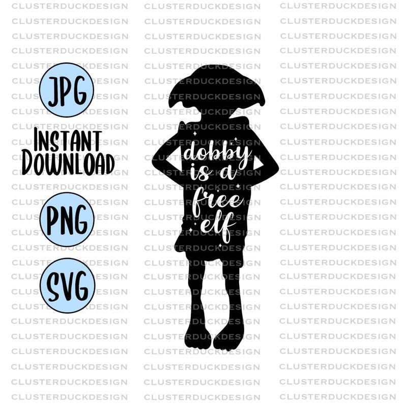 Download Dobby Is a Free Elf Harry Potter SVG Design SVG Files for ...