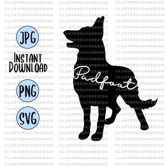 Padfoot Harry Potter Svg Design Svg Files For Cricut Etsy
