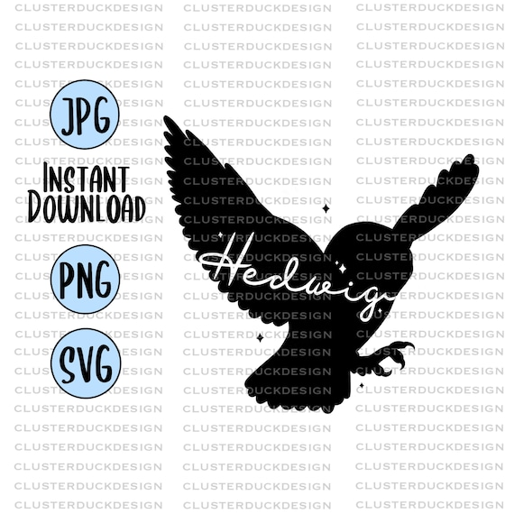 Hedwig 2 Harry Potter Svg Design Svg Files For Cricut Etsy