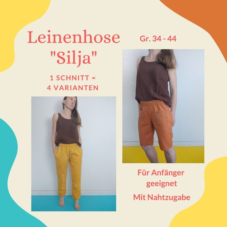 Damenhose SILJA Schnittmuster & Nähanleitung image 0