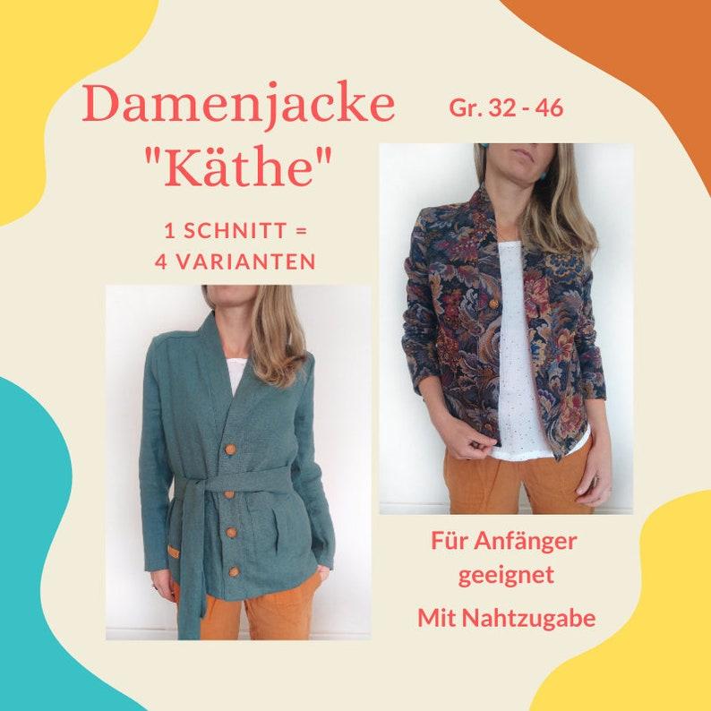 Damenjacke KÄTHE Schnittmuster & Nähanleitung image 0