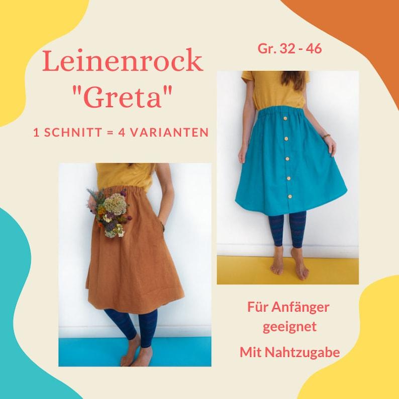 Damenrock GRETA Schnittmuster & Nähanleitung mit image 0