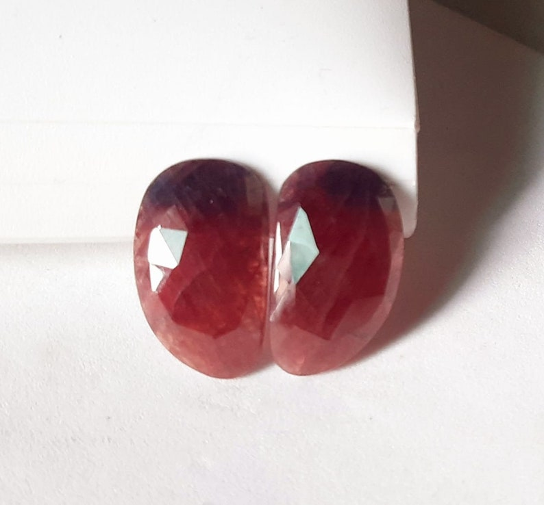 AAA quality wonder Sapphire rose Cut Faceted 23x14x5mm approx fancy Shape 34 Cts GS43.