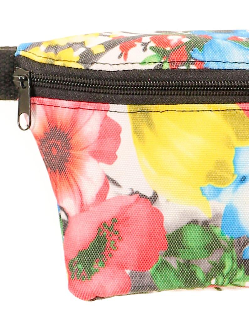 Ultra-Slim Fanny Pack Bum Bags:Red Floral FYDELITY