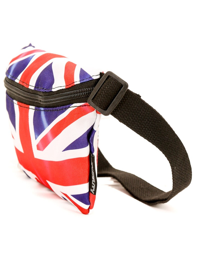 Ultra-Slim Fanny Pack Bum Bags:FLAG UK FYDELITY