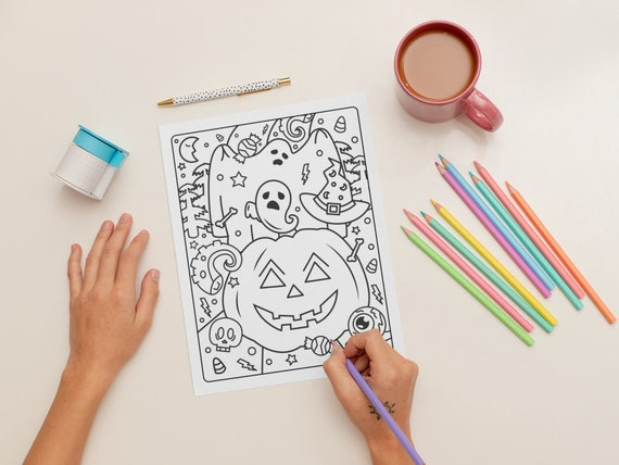 Halloween Coloring Page for Kids  Page 1 PERSONAL USE