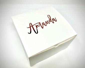Bridesmaid Gift Box, Bridesmaid Proposal Box, Bridesmaid Gifts Will You Be My Bridesmaid, Maid of Honor Proposal Empty Personalized Gift Box