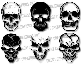 Skull clipart Skull with frog and leaves tumbler decal svg Silhouette Cameo | Skull sublimation designs Man skull svg