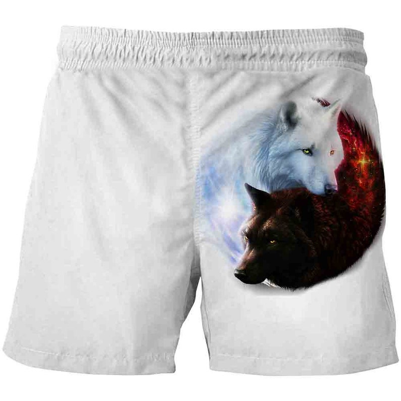 Wolf shorts top t unisex shorts gift new shorts high quality