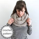 crochet infinity scarf PDF PATTERN | simple crochet loop scarf |easy crochet scarf | ribbed crochet scarf pattern | crochet infinity pattern