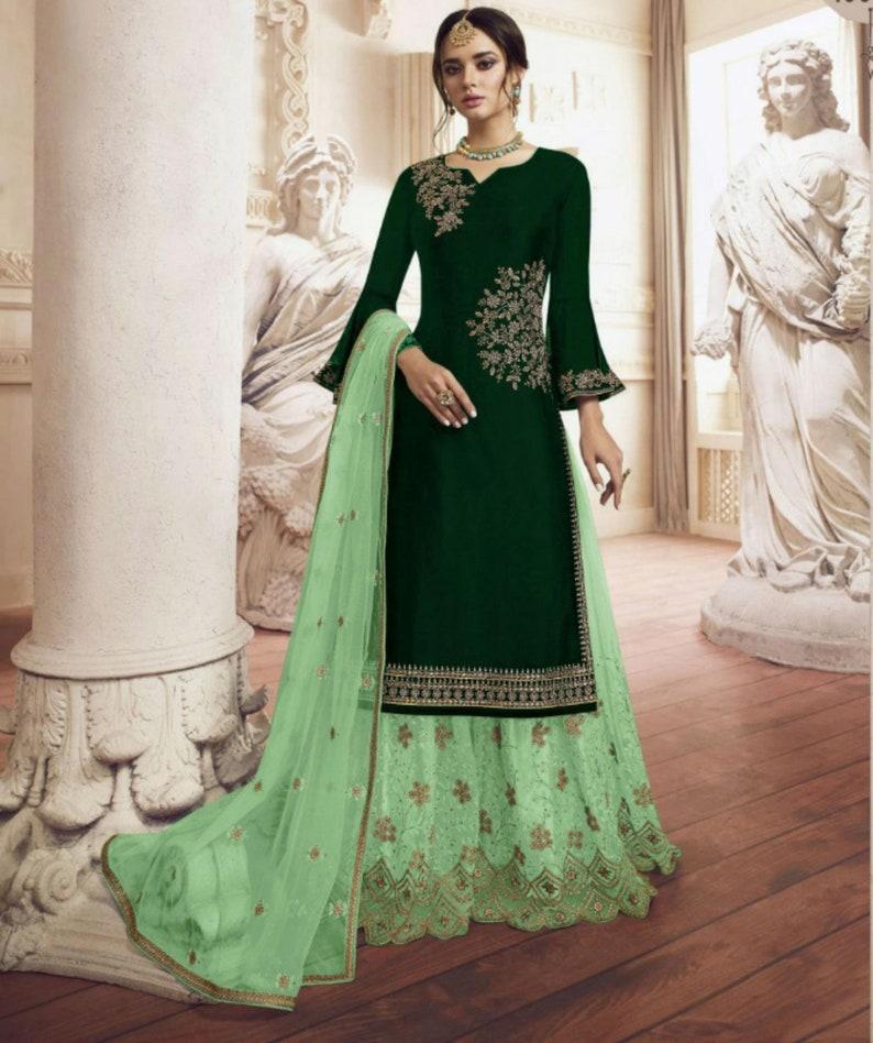 INDIAN ANARKALI SALWAR KAMEEZ SUIT ETHNIC DESIGNER BOLLYWOOD PARTY WEAR DRESS