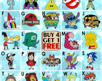 24 Chuckie Finster Cartoon Enamel Pin Rugrats Anime Enamel Pins Backpack Pins Lapel Pin Pins Pin Badge Pin Cool Pins