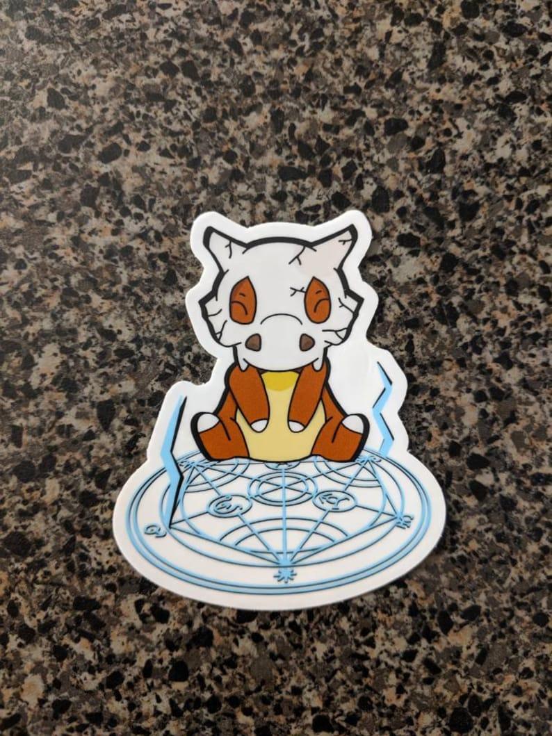 Cubone X Full Metal Alchemist sticker