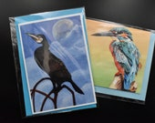 Mix and match two rectangle postcards of flora and fauna