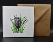 Postcard of a cranky heron