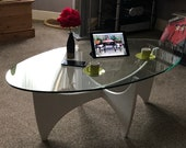 G Plan Oval Glass Table Mid-century Vintage 1969 - Rare table