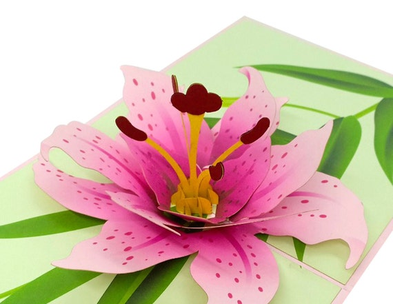 LILY BLOOM 3D Pop-Up Greeting Card Lovepop