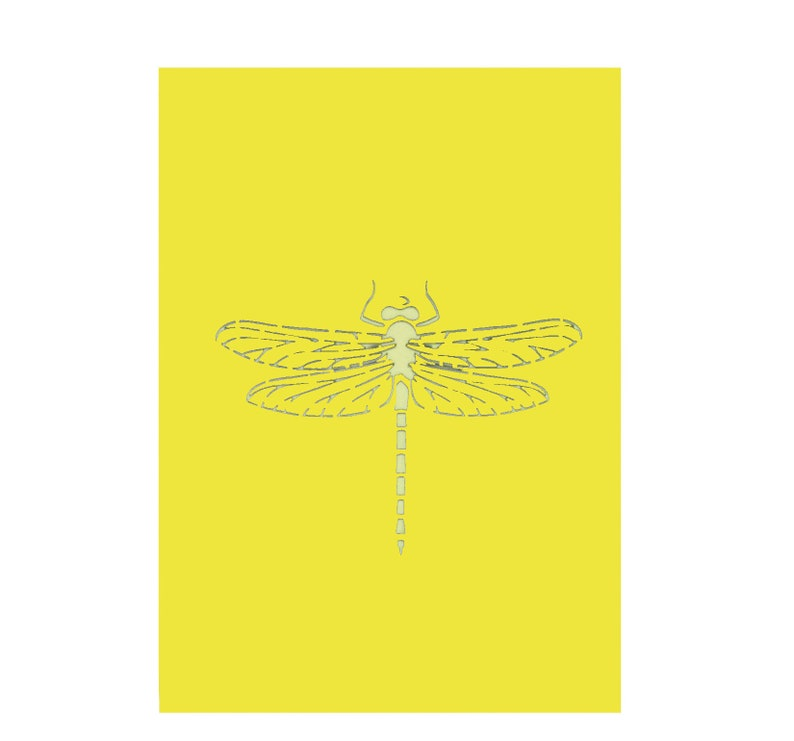 Dragonfly and sunflower pop up 3D card