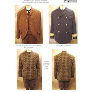 Men's Vintage Reproduction Sewing Patterns     Mens Lounge Sack and Norfolk Jackets - LMM #116 $7.95 AT vintagedancer.com