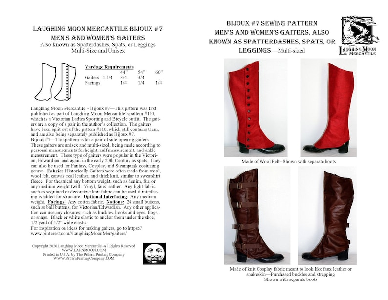 Vintage Western Wear Clothing, Outfit Ideas     B7 - Download Mens and Ladies Gaiters or Spatterdashes $0.50 AT vintagedancer.com