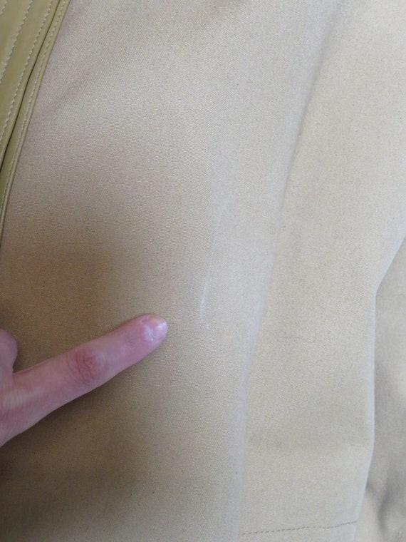 Bonnie Cashin Sills Camel Canvas & Leather Coat c… - image 10