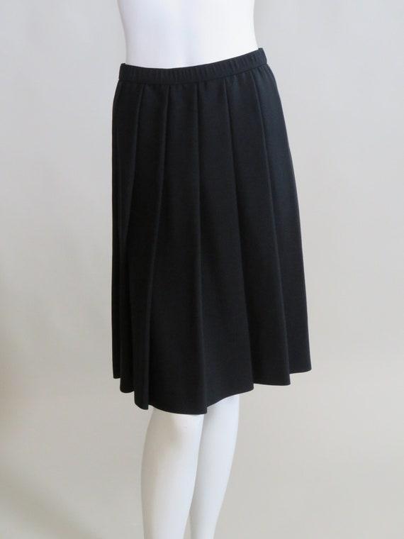 Adolfo Black Pleated Skirt