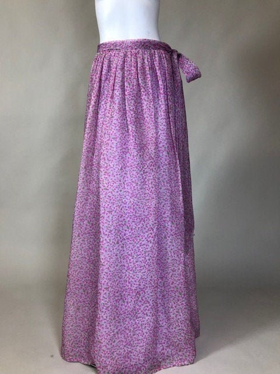 Mollie Parnis Silk Chiffon Maxi Length Skirt c. 19