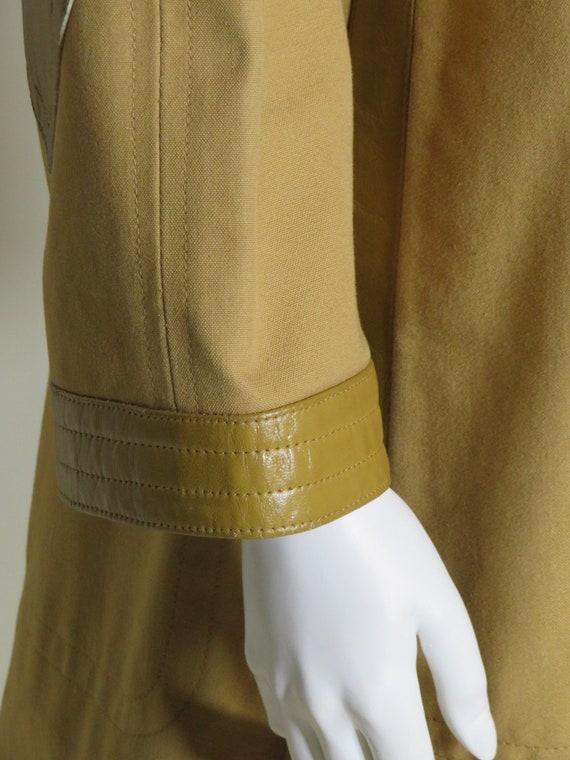 Bonnie Cashin Sills Camel Canvas & Leather Coat c… - image 7