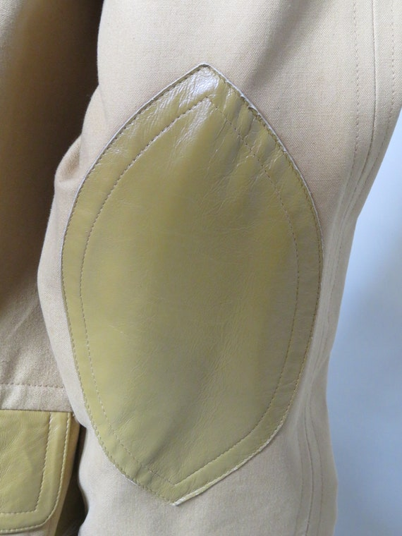 Bonnie Cashin Sills Camel Canvas & Leather Coat c… - image 8