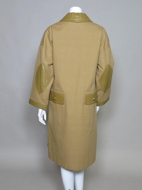 Bonnie Cashin Sills Camel Canvas & Leather Coat c… - image 5