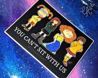 You Can't Sit With Us Waterproof Vinyl Decals   Weather Resistant Sticker   Laptop   Hydroflask   Car Window   Bumper Stickers