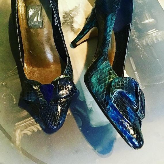 Snakeskin J. Renee kitten heels