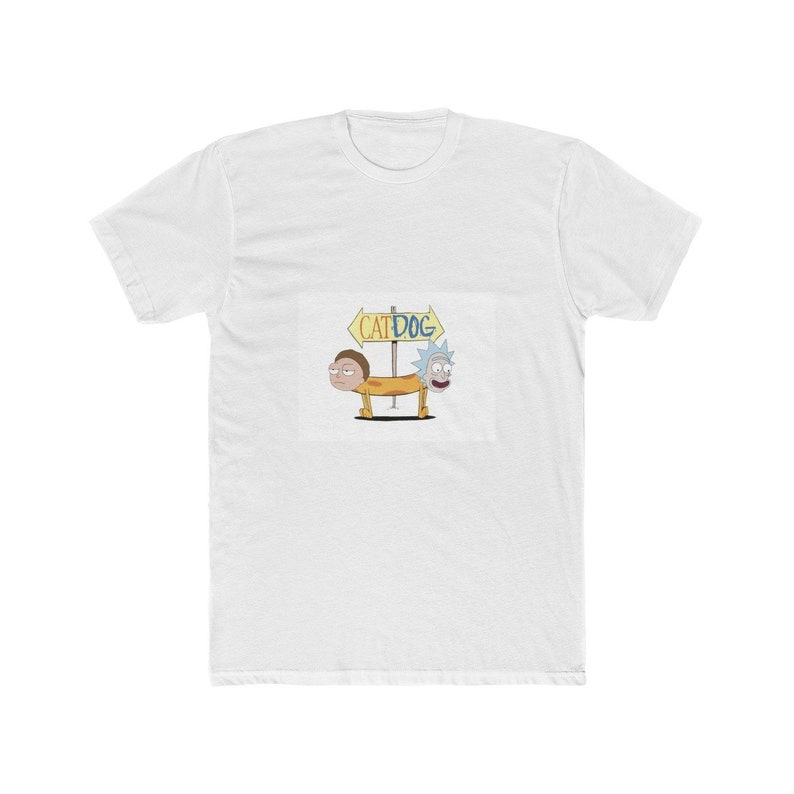 Rick Dawg Cat Morty inspired unisex tee shirt Catdog Rick and Morty