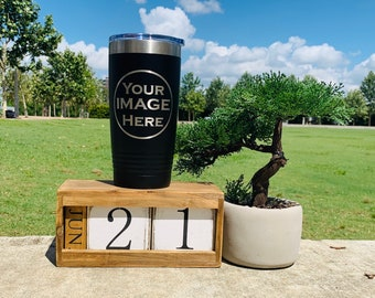 10 or more tumbler Single logo 20 or 30  oz Tumbler Personalized Insulated Steel Tumbler