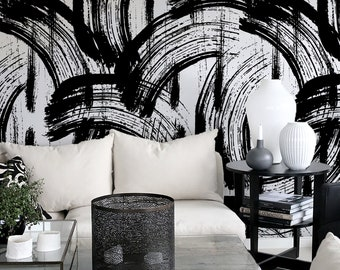 Black And White Wallpaper Etsy