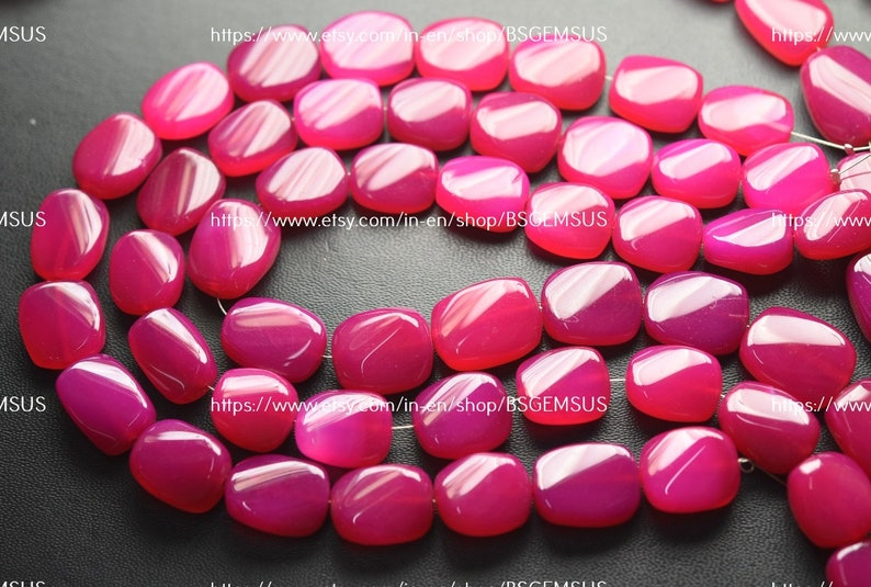10 Inches Strand,Pink Chalcedony Smooth Nuggets Shape,Size 14-16mm