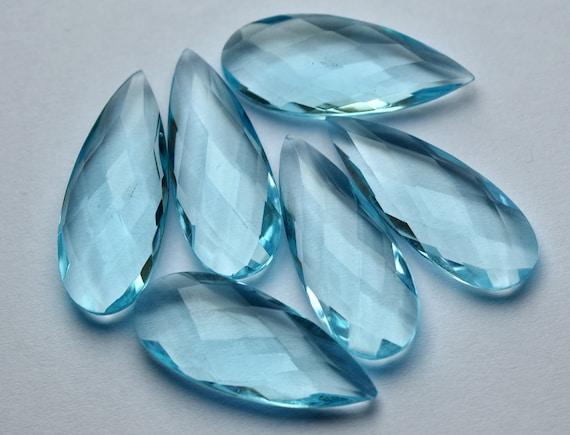 5 Matched Pairs 10X14mm Size, London Blue Quartz Faceted Cut Pear Shape Briolette/'s