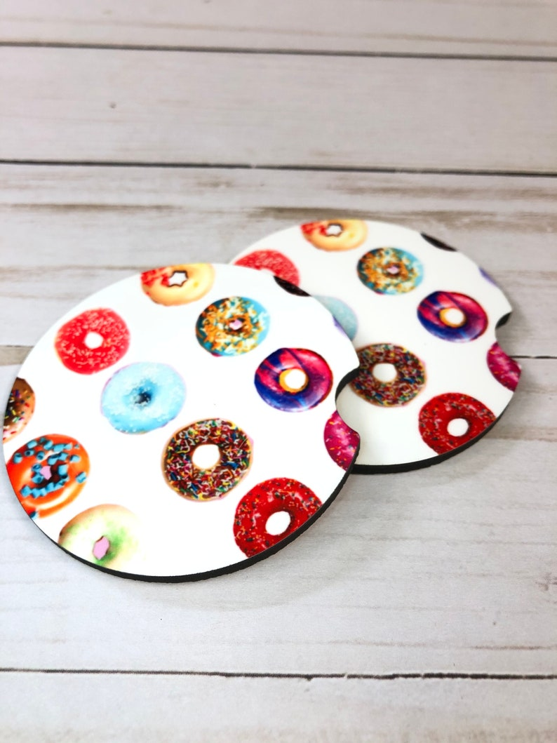 car coasters  Donut car coaster car coaster donut print donut