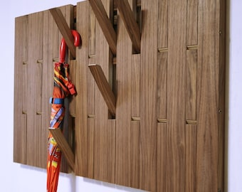 Piano Wall-Mounted Organizer.  plywood, American walnut veneer