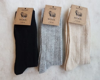 Cashmere Socks, Goat fiber Socks, Natural Wool So Soft and Warm, Perfect as Gift For Special Person, Unisex!!!