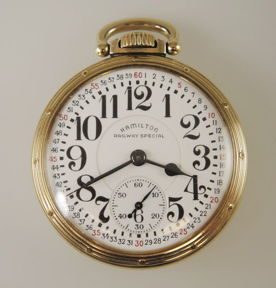16 Size 23 Jewel Hamilton 950B Pocket watch c1951