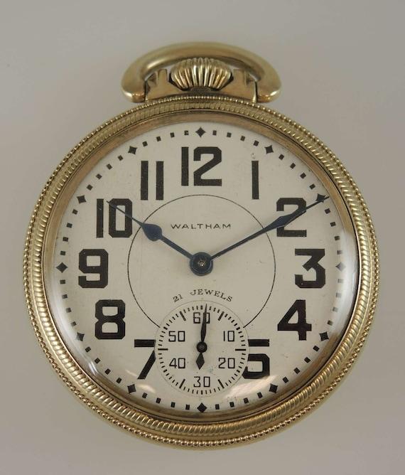 16 size 21 Jewel Waltham 16-A pocket watch. c1949