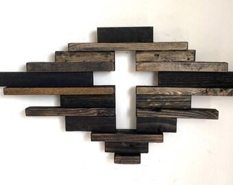 Wood Cross Religious Cross Spiritual Cross Crucifix Rustic Wood Cross Up Cycled Wood Cross