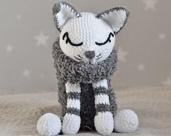 Large Ami Cat crochet pattern - Amigurumi Today | 270x340