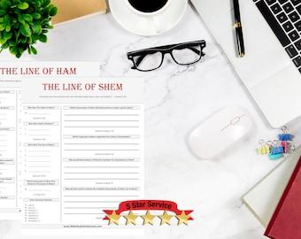 The Genealogy Starter Pack | 5 Bible Study Worksheets | SAVE 25%